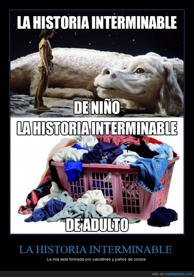 colada,fujur,La historia interminable,lavadora,ropa,sucia,The Neverending Story