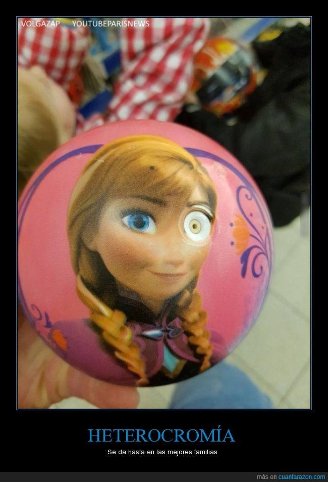 Anna,Frozen,ojo,pelota