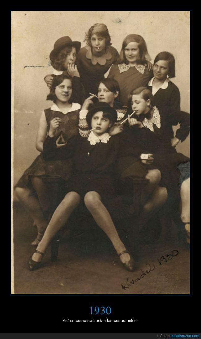 1930,chicas,fumar,gang,niñas,pandilla