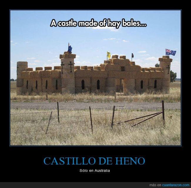 australia,castillo,construir,heno,ladrillo