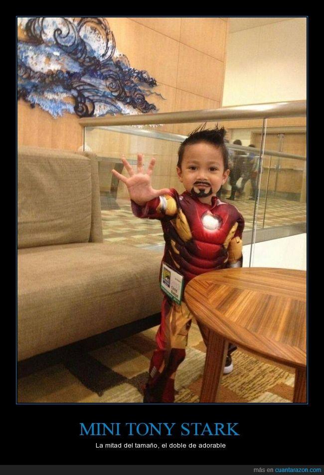 cosplay,disfraz,Iron man,niño,perilla,Tony Stark