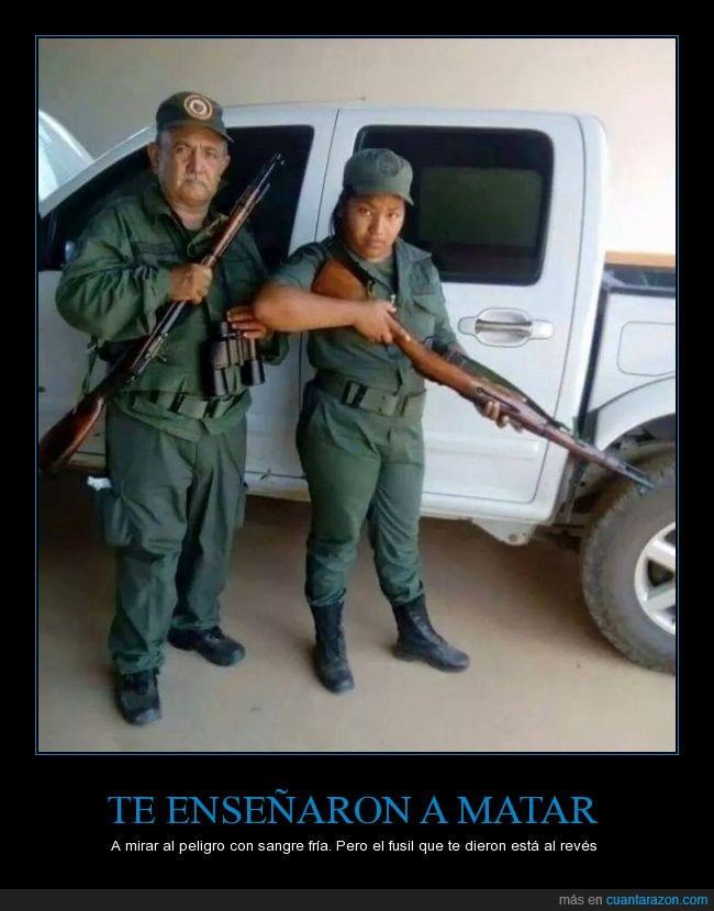 fria,fusil,matar,peligro,policia,revés,sangre,soldado