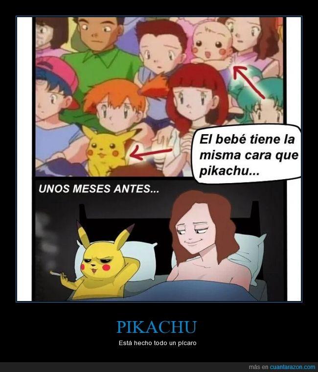 acostar,amor,bebe,chica,hijo,niño,padre,pikachu,pokemon