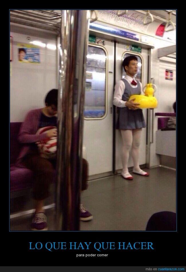 falda,metro,random,traje,wtf