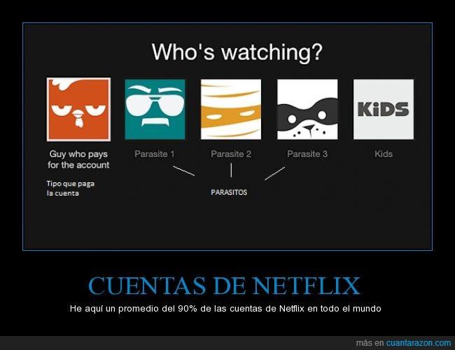 cuenta,Netflix,pagar,parásitos,traducido por mí :)