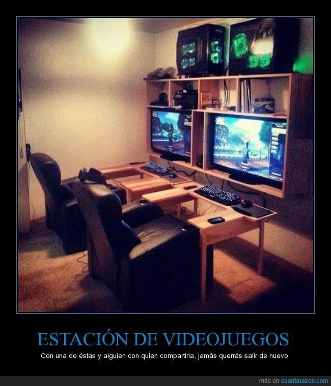 compañía,estacion,jugar,ordenador,pareja,pc master race,silla,videojuegos