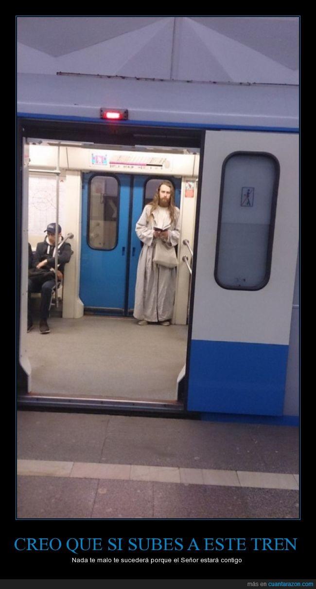 Dios,jesús,metro,subterraneo,tren,vagón,yisus