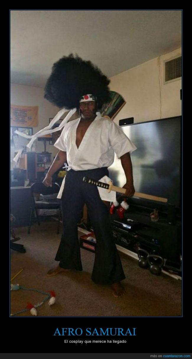 afro samurai,anime,cosplay,peluca