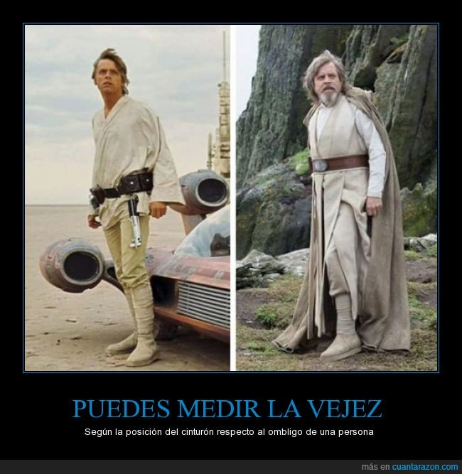 actor,barriga,cintura,cinturon,edad,joven,Luke Skywalker,Mark Hamil,ombligo,Star Wars,viejo