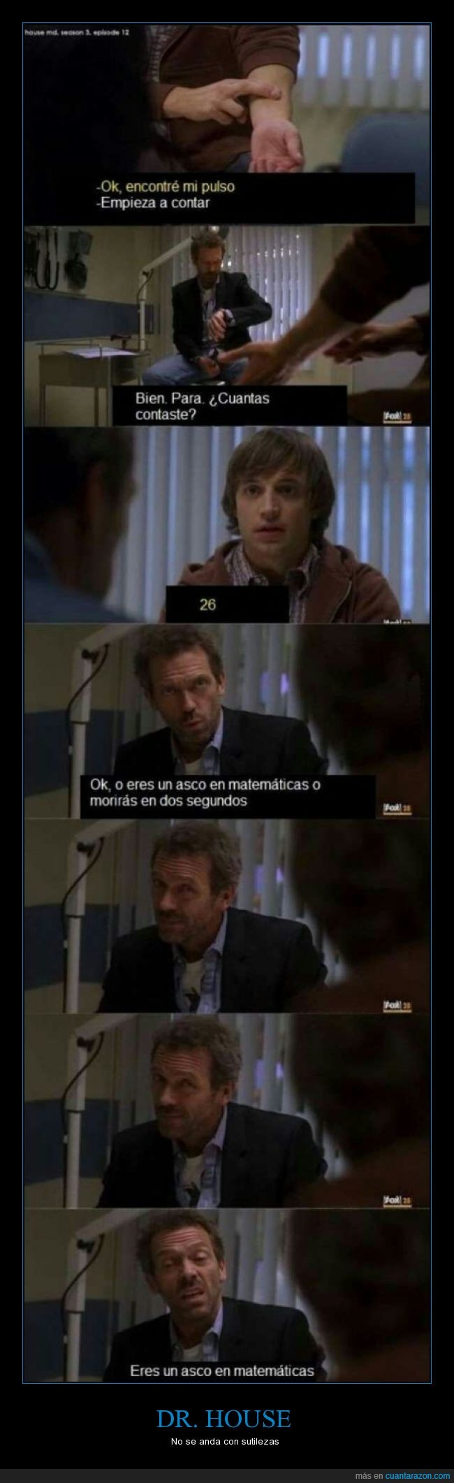 contar,doctor,Dr house,House,malo,matematicas