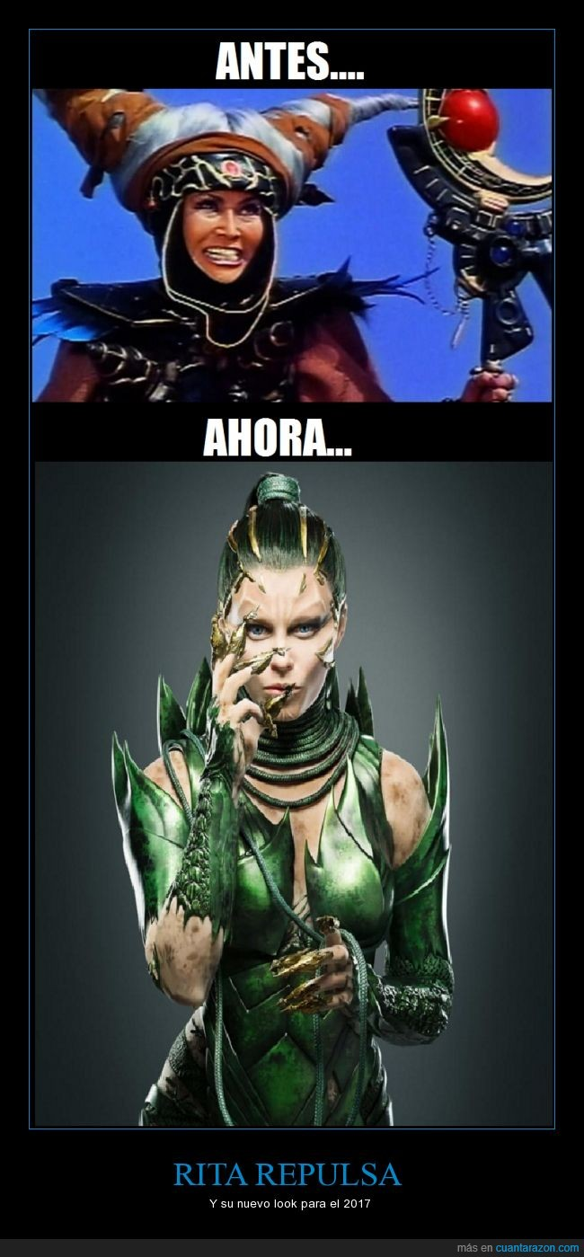 apariencia,cambio,look,Power Rangers,Rita Repulsa