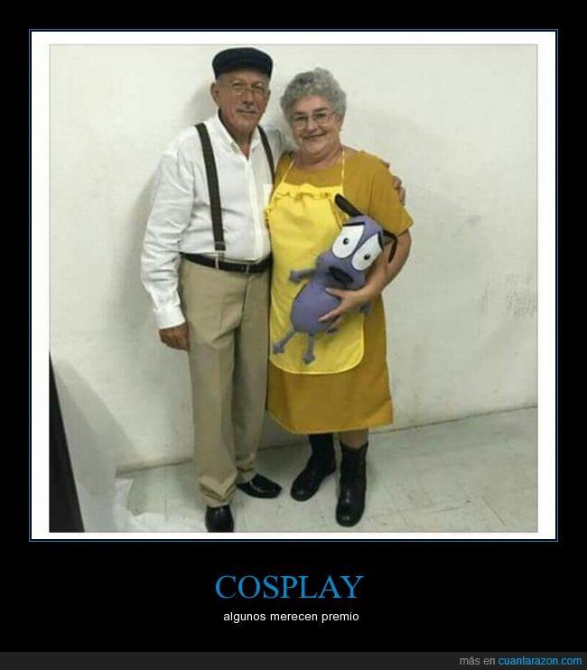 abuelo,Agallas,agallas el perro cobarde,cosplay,Eustaquio habichuelo,Muriel,pareja,señor,señora