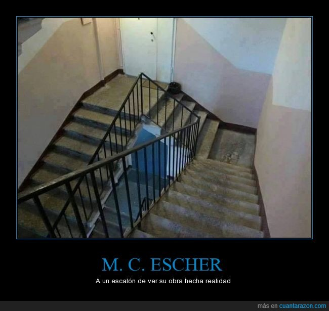 escalera,escalón,Escher,imposible