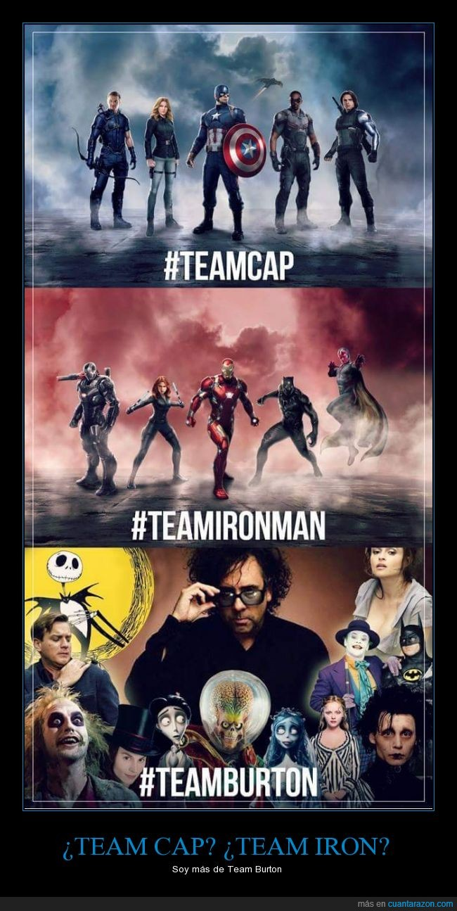 avengers,civil war,team iron,tema cap,Tim Burton