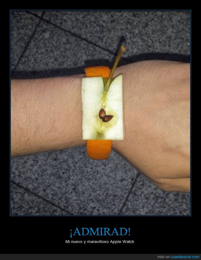 apple watch,fruta,genial,manzana,naranja