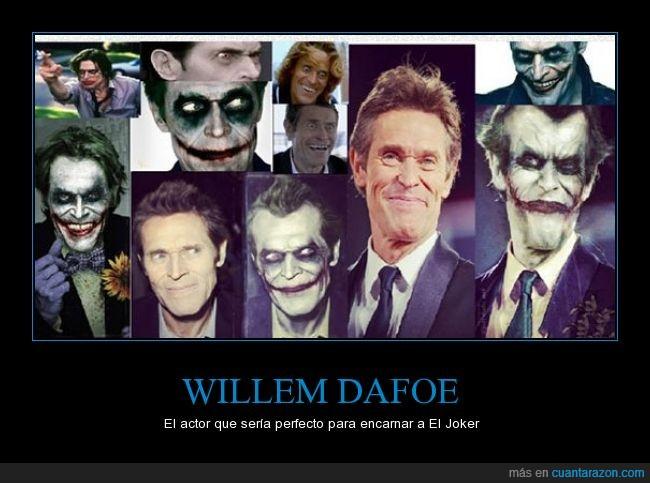 comics,dc,duende verde,genial,guason,joker,spiderman,willem dafoe