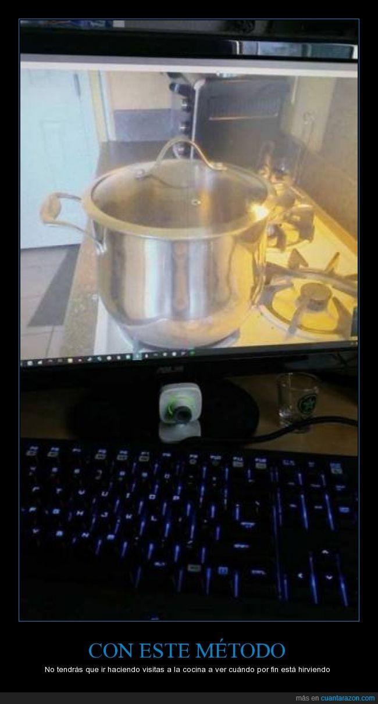 agua,camara,cocina,hervir,hirviendo,olla,skype
