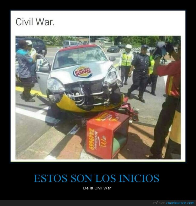 burger king,chocar,civil,genial,mcdonalds,war