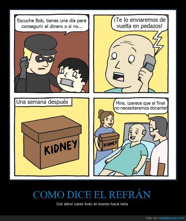 Cabron,Donante,donar,hijo,Kidney,Organos,padre,riñón,secuestrador,secuestrar,Transplante