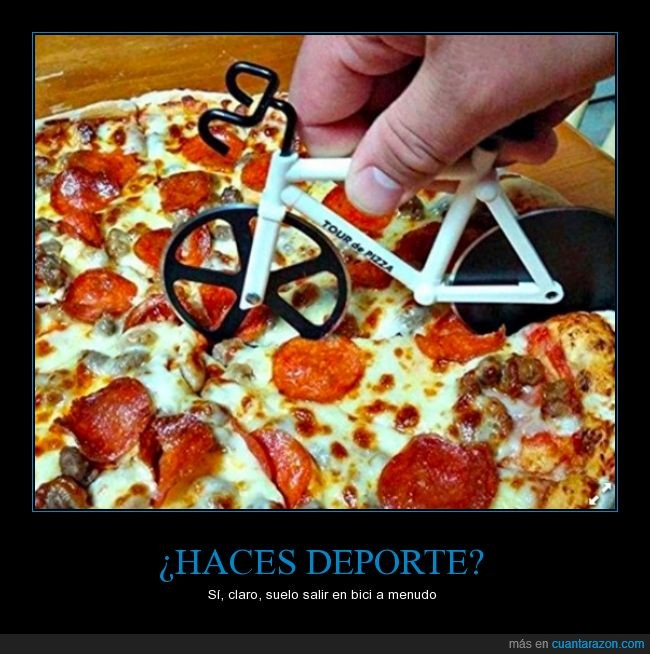 bicicleta,ciclismo,deporte,pizza