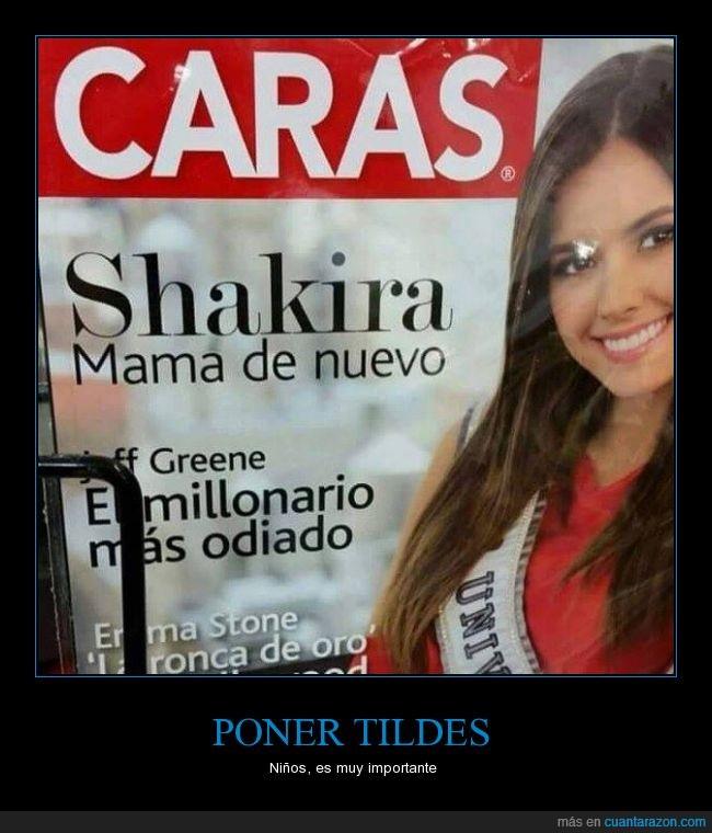 importancia,malinterpretar,mamá,revista,Shakira,tilde