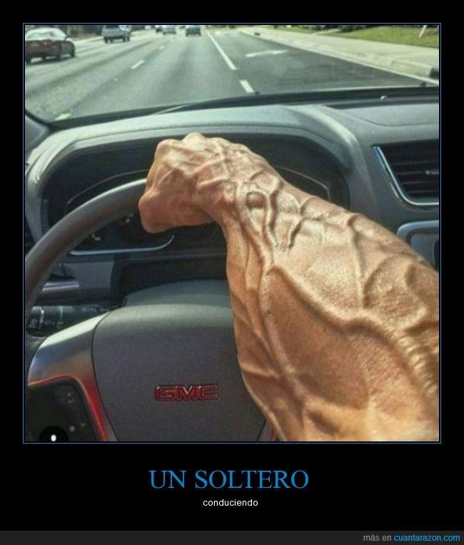 brazo,fuerza,GMC,venas,volante
