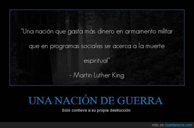 Martin luther King,militar,muete,nacion