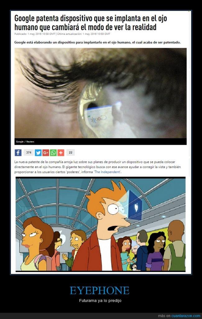 Futurma,Google,ojo