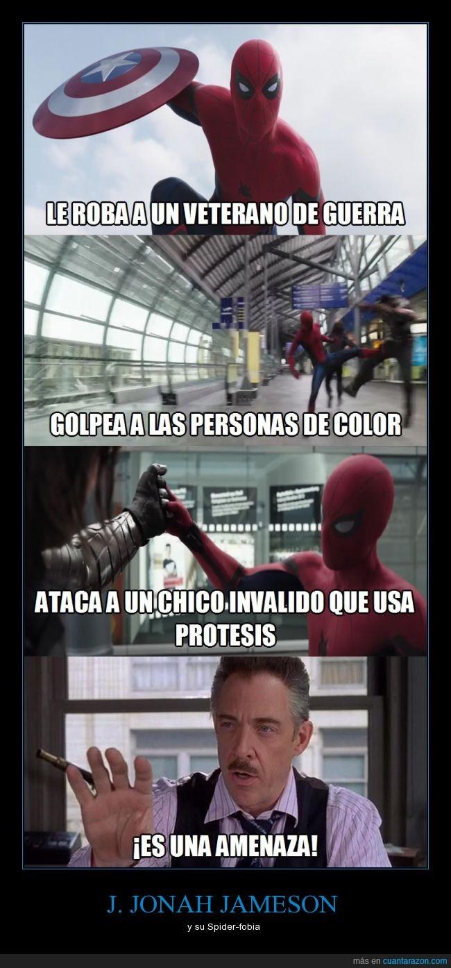 Capitan America,Civilwar,Falcon,J. Jonah Jameson,marvel,sensacionalista,Soldado de invierno,Spiderman