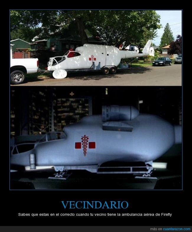aerea,ambulancia,firefly,vecindario,vecino