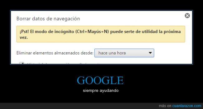 borrar,google,historial,incognito,ventana