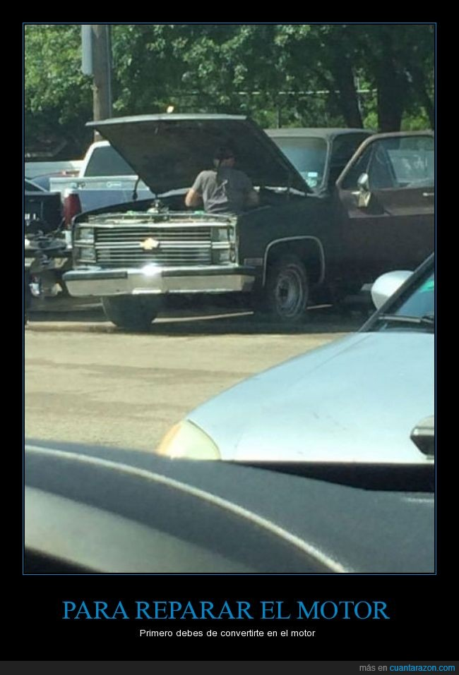 coche,dentro,Hombre,motor,reparación