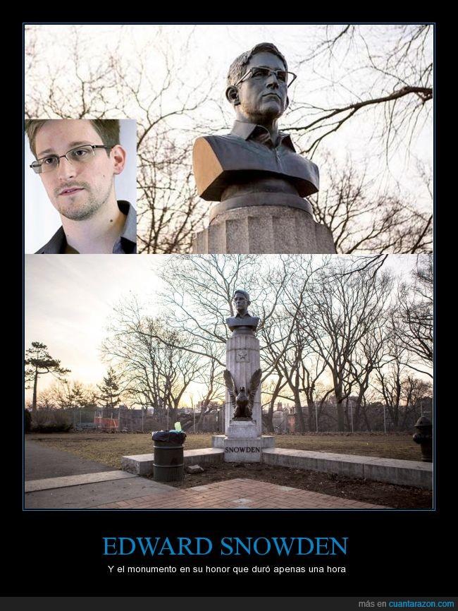 arte de guerrilla,edward snowden,estatua,guerrilla art,ilegal,monumento