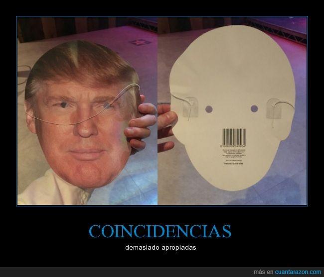 bigote,código de barras,Hitler,mascara,Trump