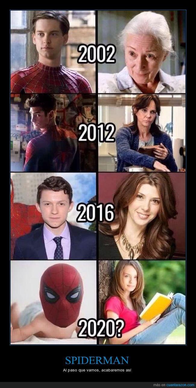 futuro,humor,joven,spiderman,Tía May