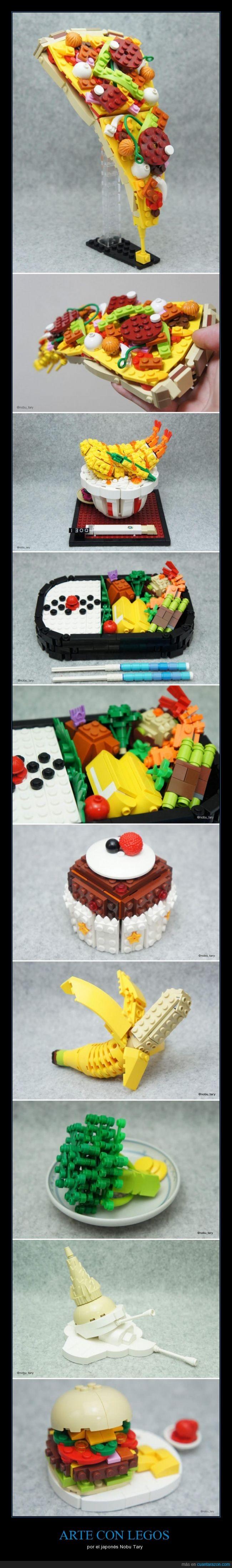 arte,brocoli,Comida,hamburguesa,legos,plátano