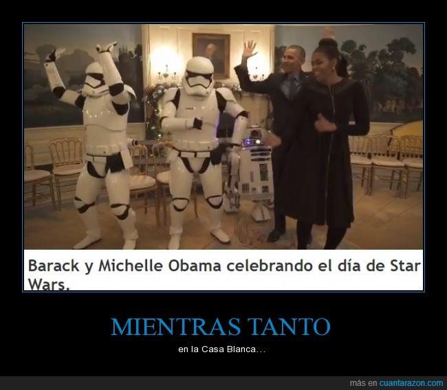 bailando,barack obama,michelle,michelle obama,obama,star wars,Stormtrooper