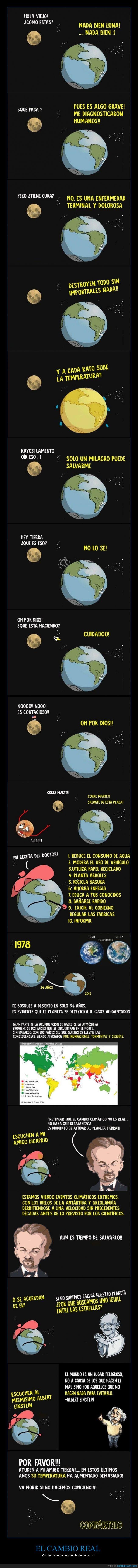 cambio,climatico,Einstein,enfermo,humanos,Leonardo Dicaprio,luna,tiempo,Tierra