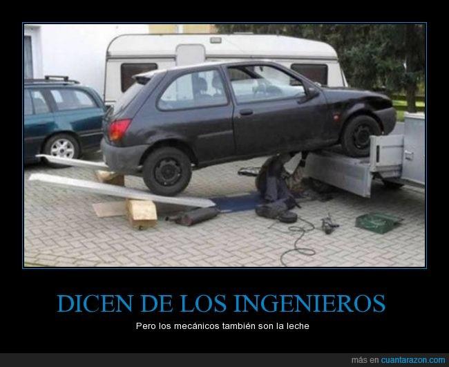 coche,con dos c*jones,debajo,mecanico,peligro