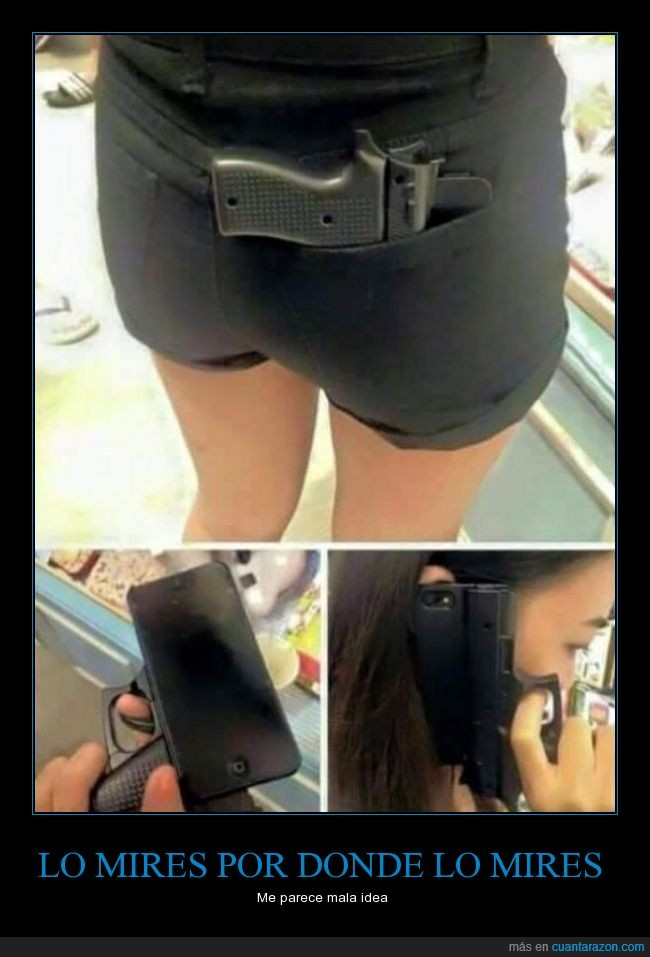 arma,funda,iphone,móvil,pistola,teléfono