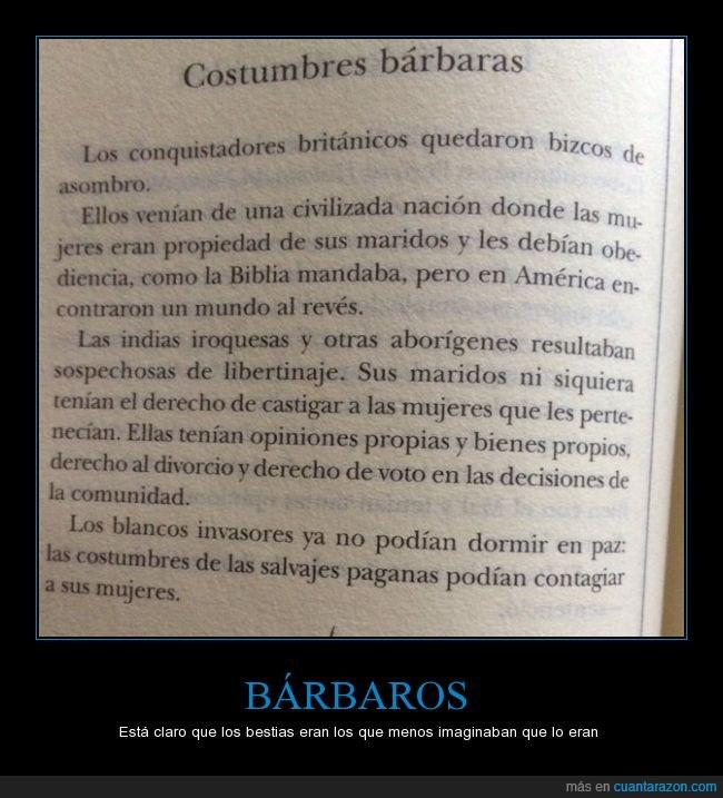 bárbaros,bestias,británicos,conquistadores,imaginar,indios