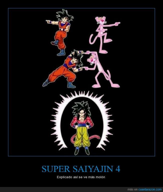 Dragon Ball,fusion,goku,pantera rosa,pink panther,ssj4
