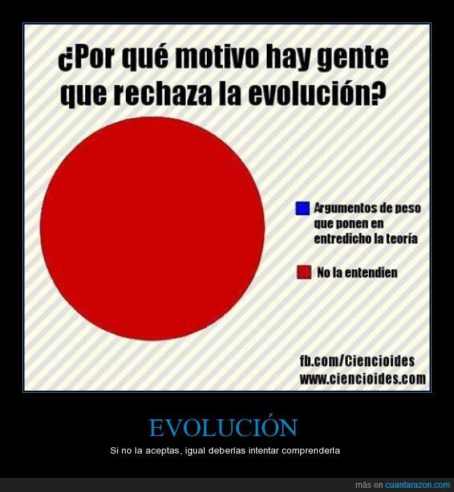 entender,evolución,rechazar