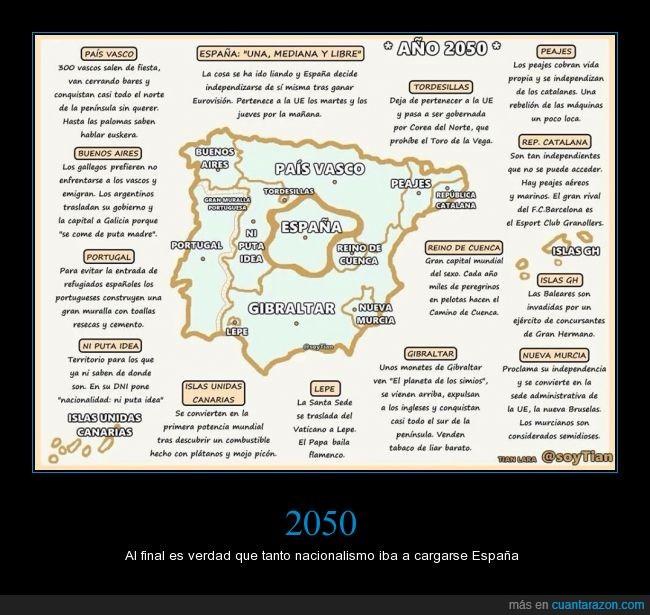 2050,España,independencia,nacionalismo,zonas