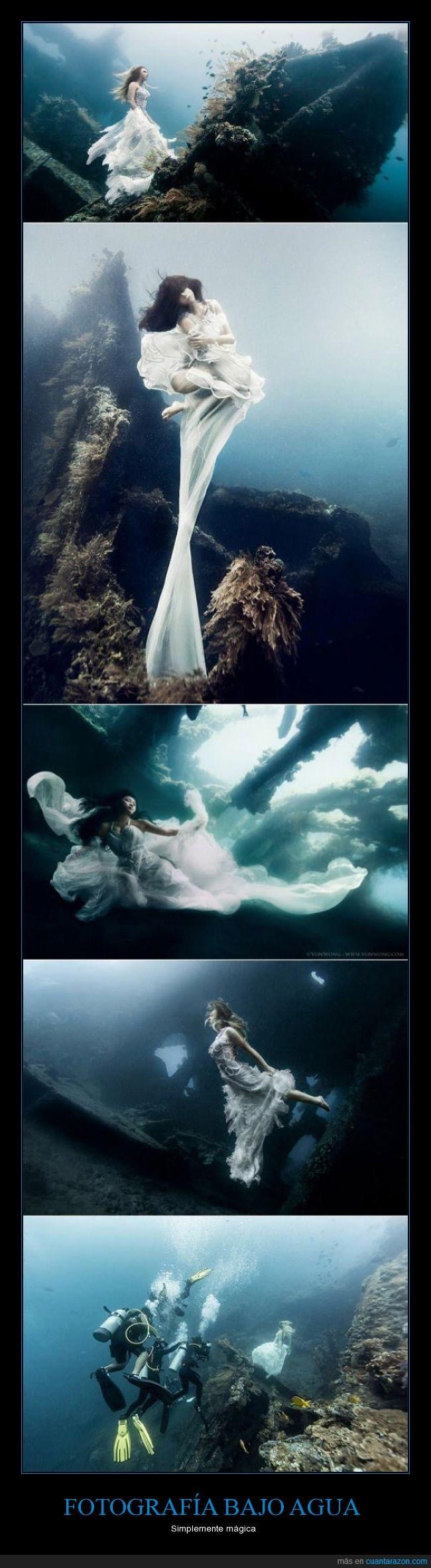 agua,bajo,fotografía,magico,mujer,set,vestido