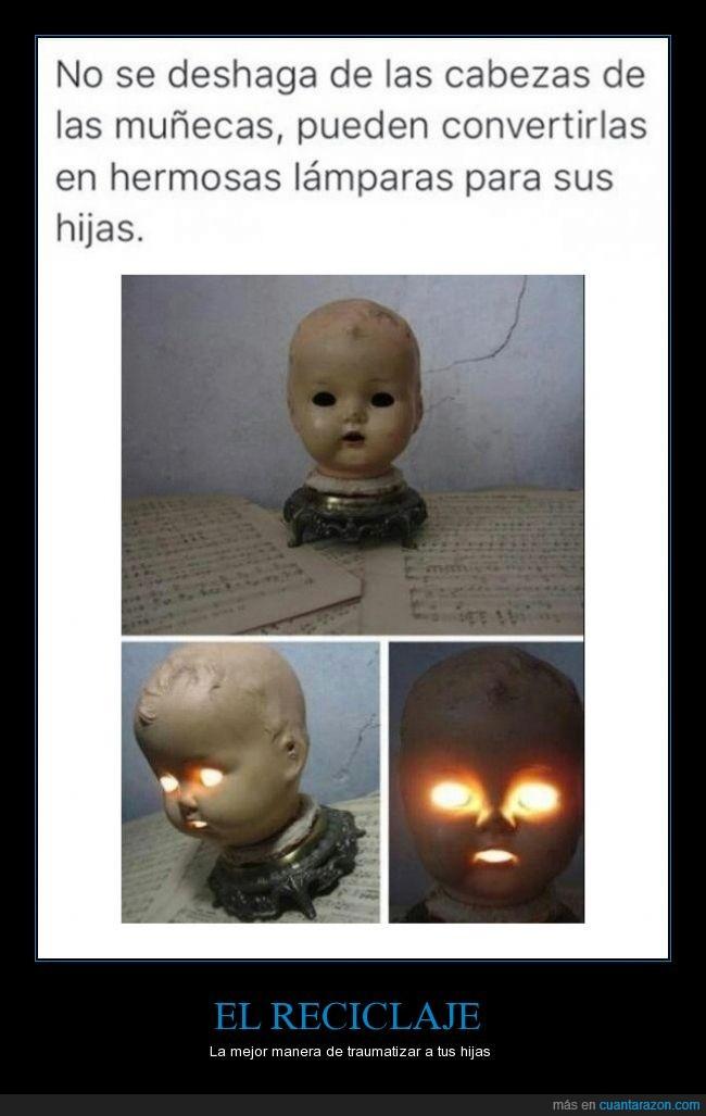 bebe,creepy,lampara,luz,miedo,muñeca,muñeco