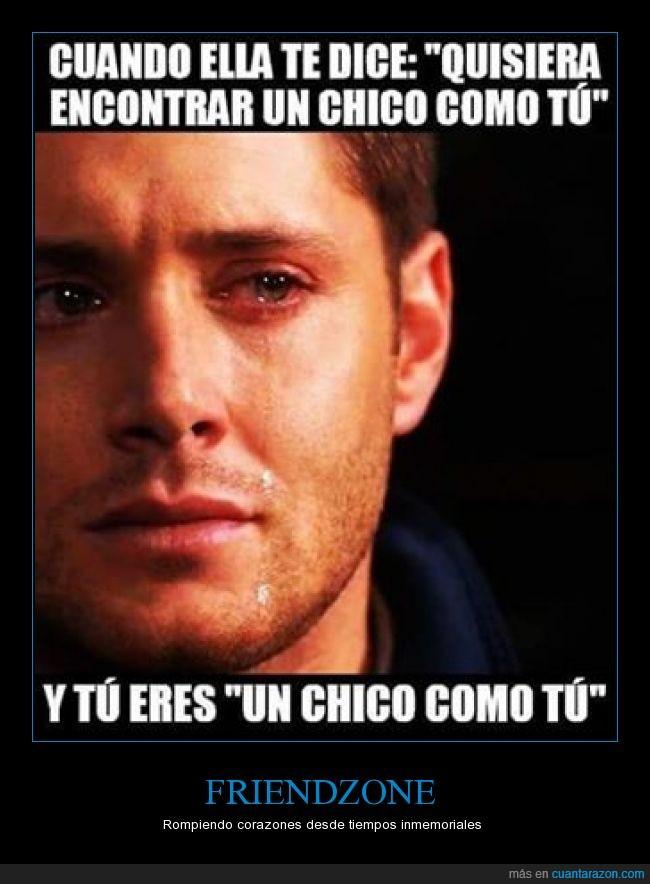 amigo,amor,como tu,Dean Winchester,friendzone,Jensen Ackles,llorar