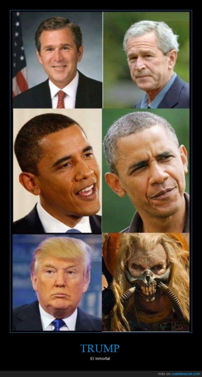 Barack Obama,Donald Trump,George Bush,mad max,presidents