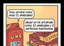 Enlace a Ni el UNO, ni el Scrabble, lo que destroza amistades es...