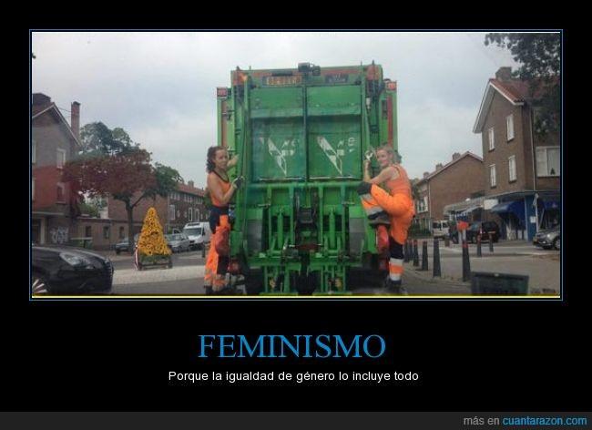 barrenderas,basura,camion de la basura,feminismo